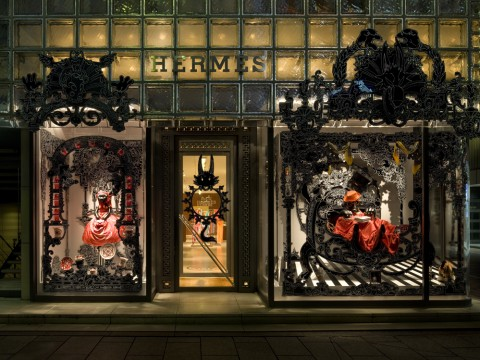 ·: Nicolas Buffe :· - Maison Hermès Window Display