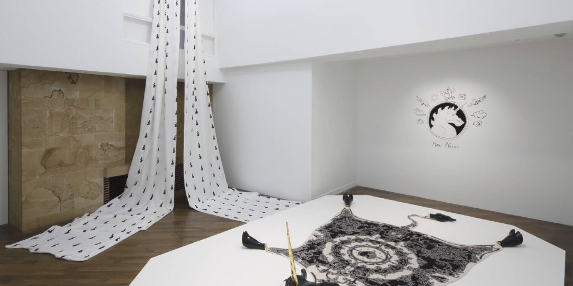 ·: Nicolas Buffe :· - Nicolas Buffe, The Dream of Polifilo, Hara Museum 10 first room, Peau de Licorne, Cité de la Tapisserie, Aubusson (photo by Keizo Kioku)