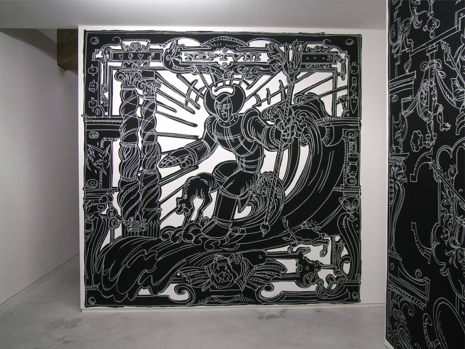 ·: Nicolas Buffe :· - Nicolas Buffe - 2010---01 - La Tour, Megumi Ogita Gallery, 5, wall drawing, chalk, paint-mini