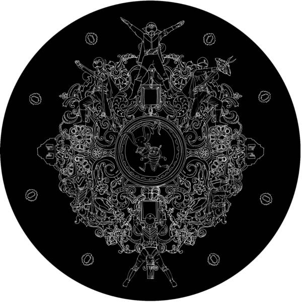 Nicolas Buffe - 2007---09 - Hypnerotomachies - gorenja, 50 cm diameter, ink on panel