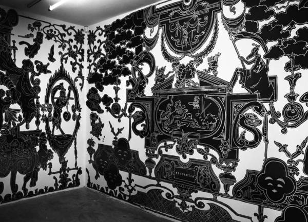 Nicolas Buffe - 2007---12 - Studiolo @ La Maison Rouge, Paris - 05, 5 x 3 m : Ink, Markers on wall