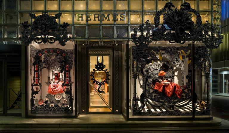 ·: Nicolas Buffe :· - Nicolas Buffe - 2010---05---Nicolas Buffe vitrine Hermes Ginza (photos de Satoshi Asakawa)_R8C4372