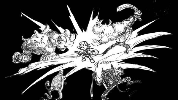 P05 1080p - ポリアを助けようと中に入ったポリフィーロは、恐ろしい怪物たちと戦いました