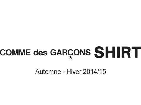 ·: Nicolas Buffe :· - Comme des Garçons SHIRT 2014 AW