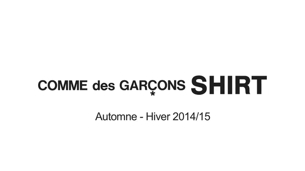 Comme des Garçons Shirt Automne Hiver 2014:15, Paris Fashiopn Week